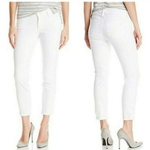 Jessica Simpson White Rolled Crop Skinny Jean Sz10